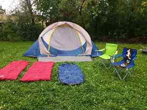 6 Person Tent with 4 piece camping Set