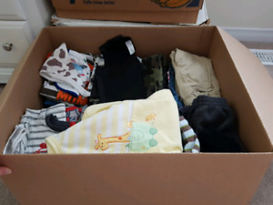 Huge lot of baby boys clothes 6-9 m, 6-12 m, & 12 months