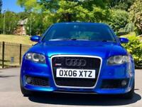 2006 06 Audi RS4 4.2 V8 Quattro B7 4dr Saloon / SPRINT BLUE + HUGE SPEC