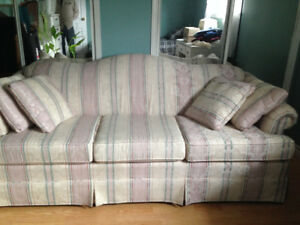 For Sale:  off white/ pink couch