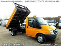2006 56 FORD TRANSIT TIPPER, DROPSIDE, PICK UP, 1 COUNCIL OWNER, 88000 MILES!