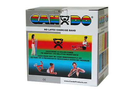 Cando 10-5626 No Latex Exercise Band - 50 Yards - Silver - X