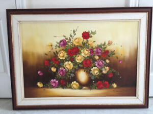 Beautiful Floral Oil Painting on Canvas - by Denis
