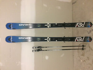 177 head Rev 85 skis with Solomon poles for sale in Banff