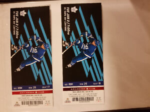 TOR vs TB Jan 2nd section 119M row 25 seats 17 and 18 $800 OBO