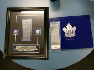 NHL Toronto Maple Leafs collectors memorabilia jersey