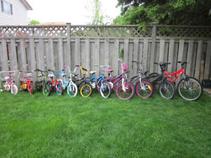 Over  25  Bicycles  - Kids, Boys, Girls, Youths  Bikes