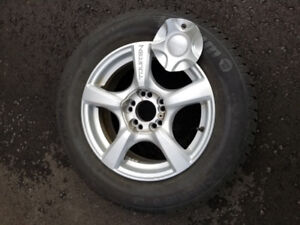 winter tire with rims. 215 65 R 16