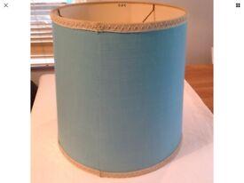 Authentic 1960s Blue Hessian Light Shade