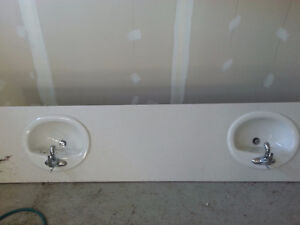 Two Bathroom Sinks with Faucet