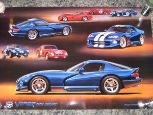 Factory Dealer Poster-1994 Viper GTS Concept Shelby CobraDaytona