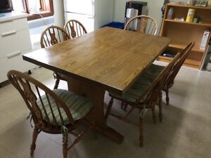 Kitchen dining set with 6 chairs