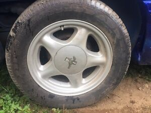 Mustang pony wheels and tires
