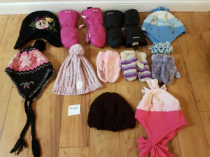 Winter hats mitts size 4-6x