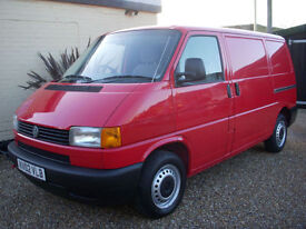 VOLKSWAGEN TRANSPORTER T4 800 SPECIAL SWB 1 OWNER SINCE 2003 RED TAILGATE