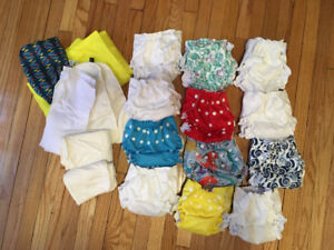 Apple Cheeks One Size Fits All Diaper Kit - 12 Diapers&35Inserts