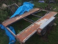 TWIN AXLE CAR TRANSPORTER TRAILER SPARES OR REPAIR