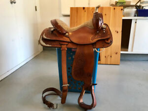 Circle Y saddle, Sweet Home Texas - riding comfort for you both!