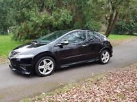 2009 Honda Civic 2.2i-CTDi Type S black £3695 *focus astra focus golf c4 megane corolla size car*
