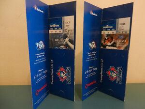 Toronto Blue Jays 25th Anniversary Season Unused Tickets 2