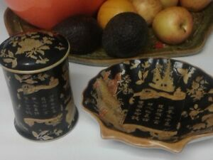 2 asian porcilian dishes