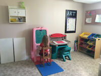 ONE SPOT AVAILABLE IMMEDIATELY IN OAKVILLE HOME DAYCARE, RECE