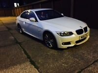 BMW 61 plate pearl white 318i m sport very low mileage hpi clear