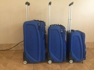 Nautica 3 Piece Luggage Set - Blue