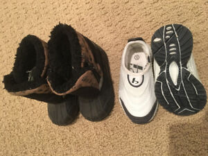 Size 5 Baby winter boots and leather shoes