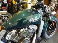 INDIAN SCOUT 2018 MODEL IN METALLIC JADE