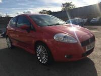 2006 Fiat Grande Punto Hatch 3Dr 1.4 16V 95 Sporting 6Spd Petrol red Manual