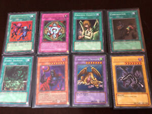 EIGHT YU GI OH CARDS, HALF ARE 1ST EDITION FIRST EDITION