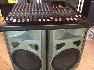 Complete PA:  Fostex 12 channel board,JBL EON powered speakers