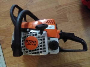 2 STIHL MS 170 w/ 16 bars and 2 extra chains
