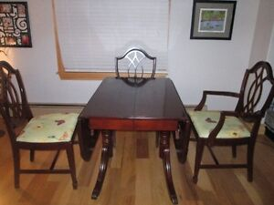SOLID WOOD  DINING SET - TABLE WITH FOUR CHAIRS