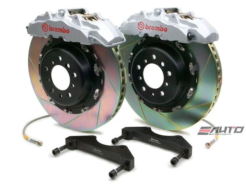 Brembo Front Gt Bbk Brake 8pot Caliper Silver 380x34 Slot Disc Ls430 01-06 Ucf30