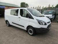 2015 Ford Transit Custom 2.2TDCi Lwb ( 125PS ) Mpv Double Crew Cab Van White