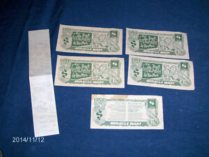 COLLECTION OF STEINBERG'S MIRACLE MART PAPER ITEMS-RARE!