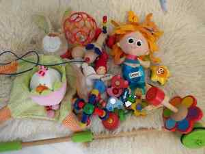 Beautiful gently used European baby toys