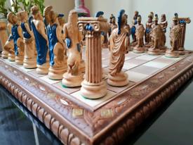 Unique Christos Arapatskos Greek Chess Set