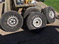 Vw transporter t5 t6 steel wheels sans tyres
