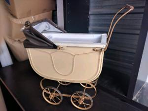 Antique Vintage Doll Stroller Pram Newborn Prop