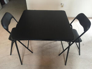 Reduced!! 1 Folding Table and 2 Chairs for Sale!!