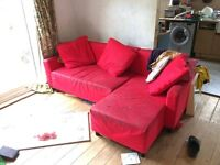 Free ikea sofa / dbl bed - kidlington