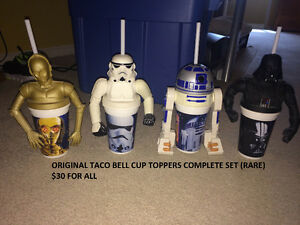 Star Wars TOY SALE!! Original Trilogy CUP TOPPERS (RARE)