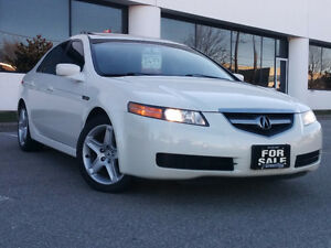 2005 ACURA TL, WHITE ON BLACK, TINTED WINDOWS,BLUE LIGHTS
