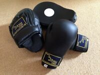 World Ju Jitsu Childs Training Gloves (6oz) & Punch Pads