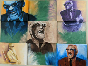 Large Ray Charles Painting!