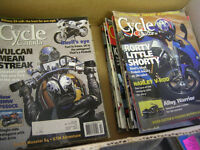 BUNCH OF 1970s to 2000 MOTORCYCLE MAGAZINES $2 EACH HARLEY BIKE