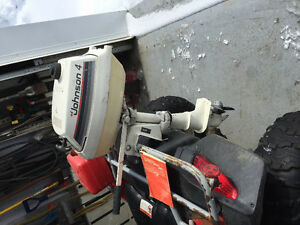 Johnson 2 stroke 4hp outboard